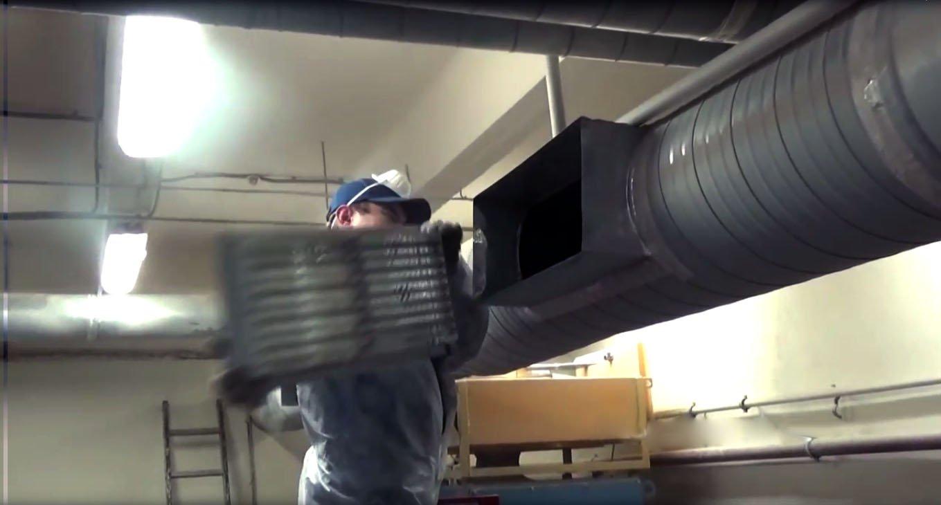 Очистка систем вентиляции и воздуховодов от пыли