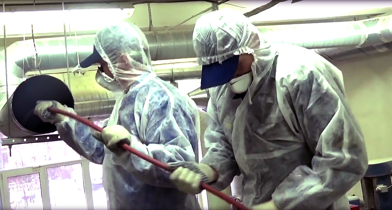 Очистка вентиляции от пыли