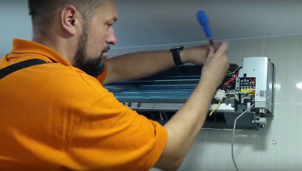 Порядок работ при чистке кондиционера