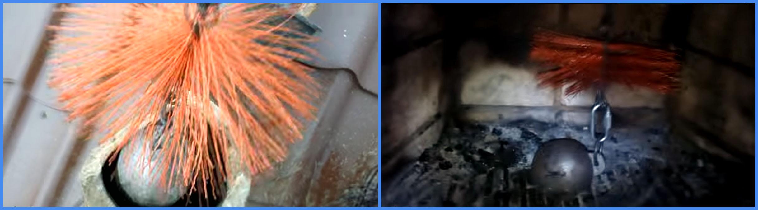 Разновидности методов чистки дымоходов